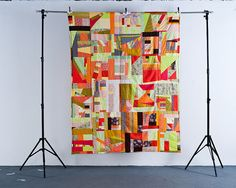 Improv quilt by anawenzel, via Flickr