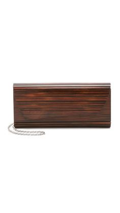 Zena Dark Wood Clutch by Inge Christopher from shopbop.com. $180