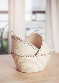 DIY Panier à corde | Elle Frost