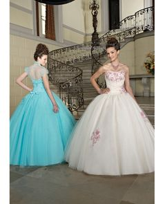Ball Gown Strapless Tulle Quinceanera Dress