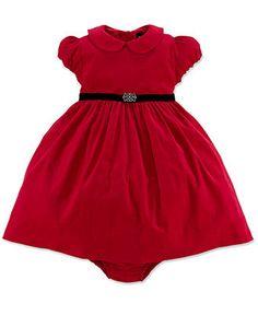 Ralph Lauren Baby Girls Dress, Baby Girls Short-Sleeve Corduroy Dress - Kids Baby Girl (0-24 months) - Macy's