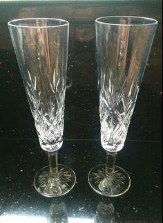 Tiffany & Co SYBIL Champagne Flutes Toasting Glass Crystal celebration wedding #TiffanyCo