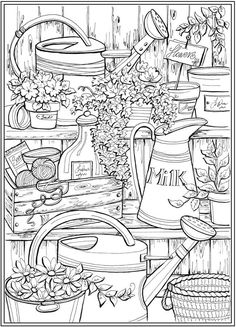 Page 2 of 7 COUNTRY CHARM a Creative Haven Coloring Book by Teresa Goodridge Welcome to Dover Publications Make your world more colorful with free printable coloring pages from italks. Our free coloring pages for adults and kids. Spring Coloring Pages, Coloring Pages To Print, Free Coloring Pages, Coloring Sheets, Adult Colouring Pages, Free Adult Coloring, Printable Adult Coloring Pages, Creative Haven Coloring Books, Country Charm