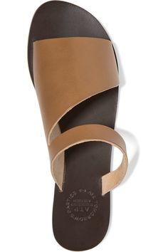 Slight heel Tan leather Slips on Designer color: Cinnamon Made in ItalyAs seen in The EDIT magazineSmall to size. See Size & Fit notes.