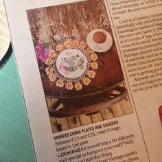 """""""in the local rag today! #moremagazine #leicestermercury #lindablannphotography #heartvintage"""""""