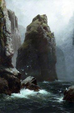 Cette huile sur toile est si réaliste qu'elle ressemble à une photographie! // Cornish Solitude - James H. C. Millar // Atkinson Art Gallery Collection