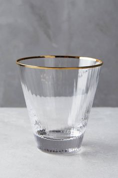 Gold rimmed barware