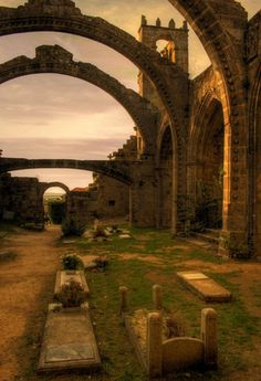 Ruinas de Santa Mariña do Dozo (Cambados, Pontevedra)- Ruta do Viño Rías Baixas (SPAIN)