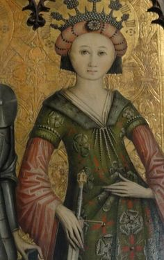 """St. Catherine"" -- 1470 -- Swiss -- Belonging to the Bavarian National Museum,Munich."