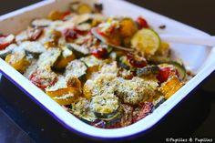 Recette - Gratin aux deux courgettes et tomate cerises / Recipe zucchini and tomato gratin