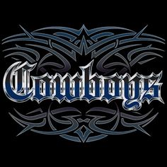 Cowboys Tattoo black T-shirt tank or sleeveless Dallas M L XL 2X 3X 4X 5X Women Ladies Men NEW