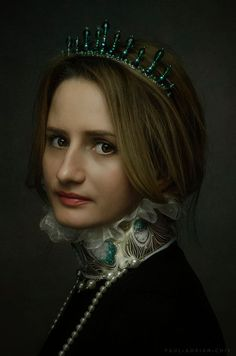 Portrait of a young lady  by Paul Adrian Chis