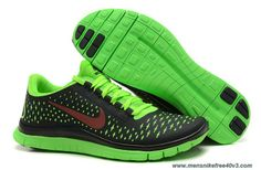 Womens Anthracite Fireberry Electric Green Shoes Nike Free 3.0 V4 511495-003 Sale