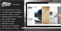 Milli - The Ultimate Photo Gallery WordPress Theme by tommusrhodus  Hey great thanks Tom. This has been one, if not the most, pleasant theme purchases I have ever had! derekmlacey ¨C Ebor WP Them