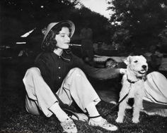 Katharine Hepburn with George in BRINGING UP BABY (1938) The same dog that played Asta in The Thin Man!