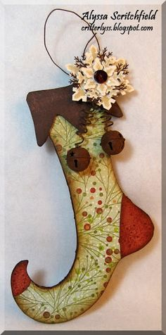 acs paper creations: An altered Elf Stocking ~