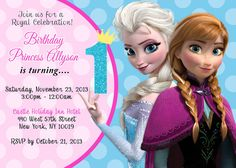 Frozen Birthday Invitation by Asapinvites on Etsy, $12.00