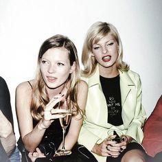 Kate Moss & Linda Evangalista 90's