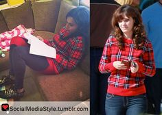 Buy Mindy Kaling and Zooey Deschanel's Red Plaid Sweater, here!
