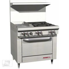 "Purchase a Southbend S36D-1GL 36"" Gas Open Burner/Griddle Restaurant Range - S Series online at FoodServiceWarehouse.com"