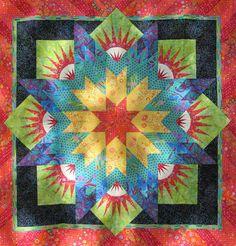 "Canton Village Quilt Works  ""I Am Not Afraid of Color"" a.k.a. Summer Solstice"