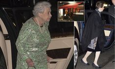The Queen stepped out for dinner at Bellamy's (inset) in London's Mayfair last night for a private meal with Princess Anne (right). The brasserie is said to be the only London restaurant she's ever dined at.