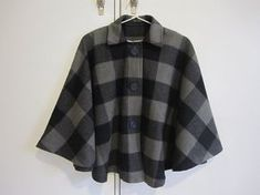 Free Winter Cape Sewing Pattern | Spots and checks cape – Sewing Projects | BurdaStyle.com