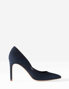 High heel leather court shoes