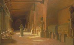 Henri RACHOU (Toulouse, 1856 - Toulouse, 1944), Méditation, 1893, Huile sur toile, Inv. 2004 1 158. Non exposée. © Toulouse, musée des Augustins – Bernard Delorme