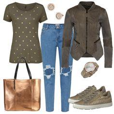 Freizeit Outfits: Grüner Look bei FrauenOutfits.de