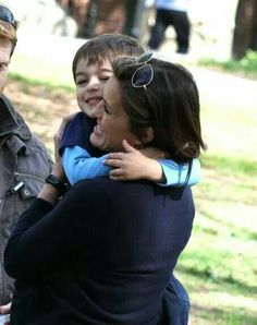 Mariska Hargitay with her son August such a cute picture