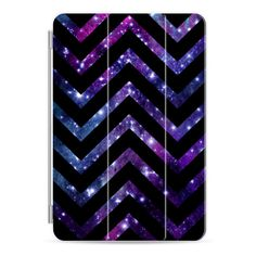 iPad Cover / Case - Galaxy Black Chevron ($45) ❤ liked on Polyvore featuring accessories, tech accessories, ipad cover / case, ipad case and apple ipad case