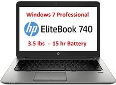 HP 14 Inch EliteBook Business Premium Laptop Notebook 740 G1 with Windows 7 Professional, Intel Core i3-4030U (3M Cache, 1.90 GHz), 4GB Memory, 500GB HDD  ist Price:	$999.00 Price: $499.00
