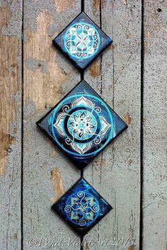 Mandalas on tiles.  Simply beautiful and inspirational.