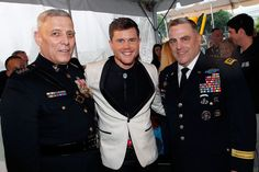 (L to R) General John M. Paxton, Jr., Assistant Commandant of the Marine Corps, AMERICAN IDOL Season 15 Winner Trent Harmon and General Mark A. Milley, 39th Chief of Staff for the U.S. Army, pose for a photo backstage at the 27th National Memorial Day Concert on May 29, 2016 in Washington, DC.