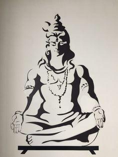 Doodle Art Drawing, Girl Drawing Sketches, Art Drawings, Random Drawings, Shiva Art, Krishna Art, Indian Art Paintings, Dance Paintings, Shiva Tattoo Design