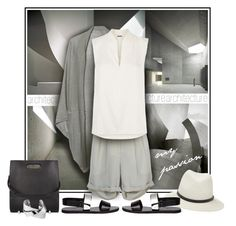 """Olive green, white, black"" by melaniamar ❤ liked on Polyvore featuring Violeta by Mango, Alexander Wang, A Peace Treaty, Vince, rag & bone, Elie Tahari and Whistles"