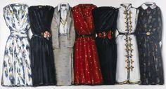 lisa milroy - dresses Together/ Fashion/ Dress/ Wardrobe/ Lisa Milroy, Together Fashion, Peter Blake, Outfits 2016, Found Art, Japanese Prints, Fashion Pictures, Dress Collection, Designer Dresses