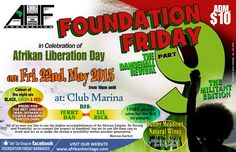 TODAY!! Foundation Friday Dance 9 @ Club Marina, May 22, 2015 - BARBADOS from 10pm until... #bajan #entertainment #bajanentertainment #foundationfriday #africanheritagefoundation