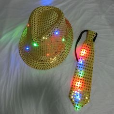 Aliexpress.com : Buy Party Favor Light Up Fedora Sequins LED Flashing Hat and Flashing Necktie Kit for Wedding Party Christmas from Reliable Event & Party Supplies suppliers on BlingBling Novelty