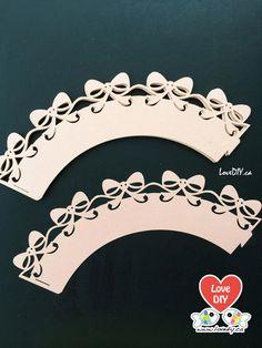 12pc Laser Cut Decorative Paper Cupcake Wrapper by LoveDIYdotca