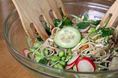 Cold Soba Noodle Salad Serves 3-4 Ingredients: 2 oz soba noodles ...
