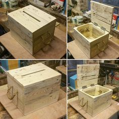 The reclaimed pallet wood card box…