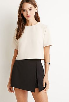 Boxy Tonal Striped Top | Forever 21 - 2000131775