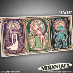 www.ohmz.net » Nintendo Art Nouveau Posters By Megan Lara