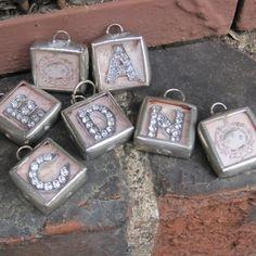 monogram charm pendant by Amy Labbe