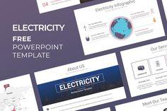 Free Electricity PowerPoint Presentation Template Best Presentation Templates, Presentation Board Design, Presentation Backgrounds, Layout Template, Keynote Template, Free Powerpoint Presentations, Google