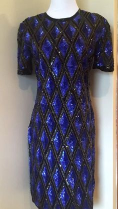 Stenay Vintage Sequin Beaded Pencil Wiggle Dress | eBay