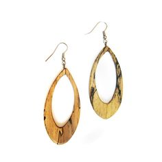 spalted wood earring