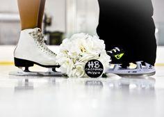 Figure Skater  Hockey player Engagement | Cathleen McGrath Photography
